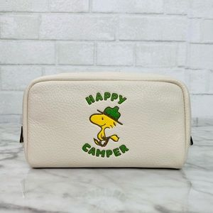 Coach X Peanuts Boxy Cosmetic Case With Woodstock